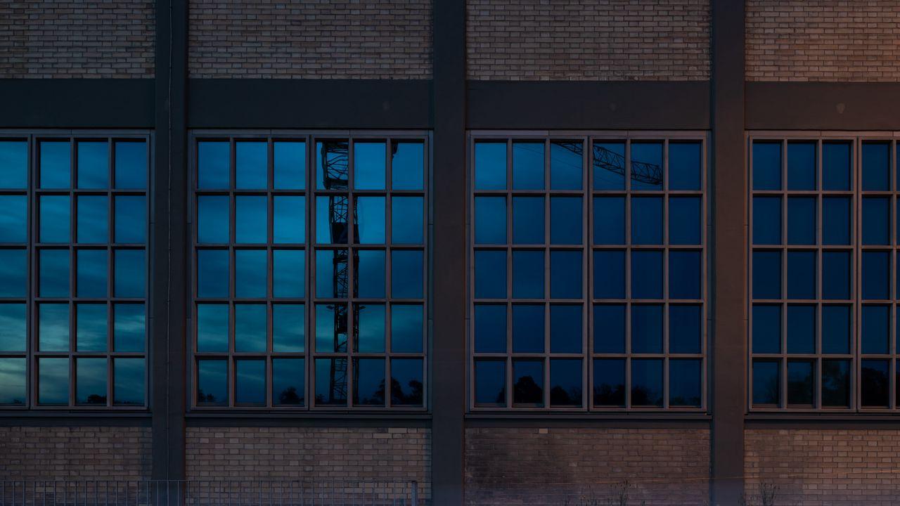 【壁纸桌面】墙纸建筑,窗户,长曝光,辉光高清壁纸免费下载