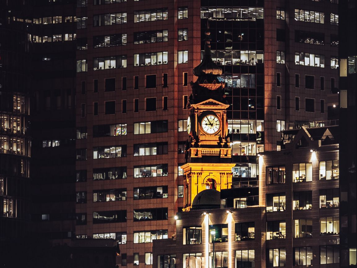 1152x864 Wallpaper buildings, architecture, city, night, sydney, australia