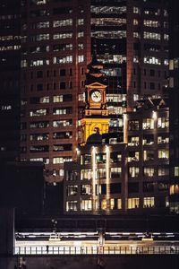 Preview wallpaper buildings, architecture, city, night, sydney, australia