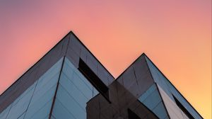 Preview wallpaper buildings, architecture, glass, bottom view, minimalism