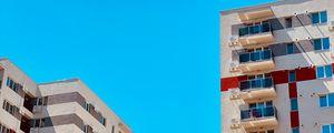 Preview wallpaper buildings, architecture, minimalism, sky, blue
