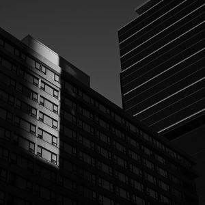 Preview wallpaper buildings, architecture, shadow, bw