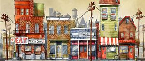 Preview wallpaper buildings, art, street, city