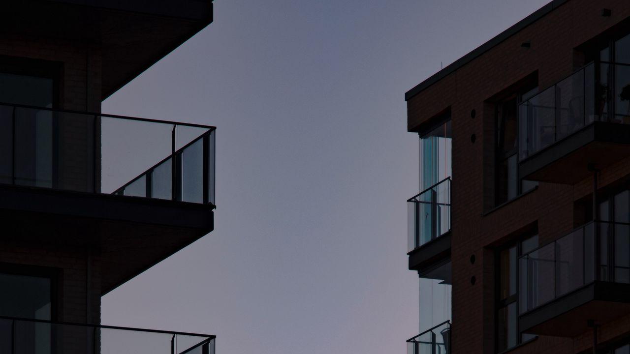 【壁纸桌面】墙纸建筑,阳台,日落,天空高清壁纸免费下载