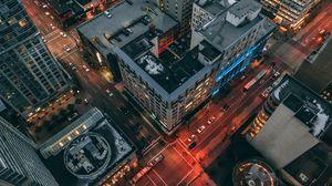 Preview wallpaper buildings, city, building, top view