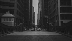 Preview wallpaper buildings, city, bw