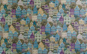 Preview wallpaper buildings, city, pattern