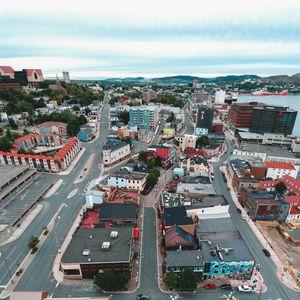 Preview wallpaper buildings, city, roads, architecture