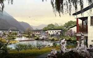 Preview wallpaper buildings, nature, photoshop