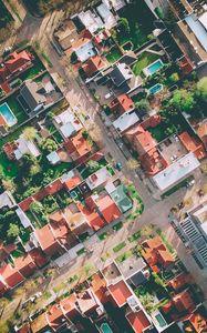 Preview wallpaper buildings, top view, city