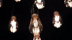 Preview wallpaper bulb, light, glow, focus