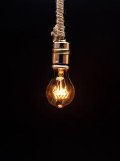 240x320 Wallpaper bulb, lighting, rope, electricity, edisons lamp