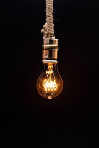 320x480 Wallpaper bulb, lighting, rope, electricity, edisons lamp
