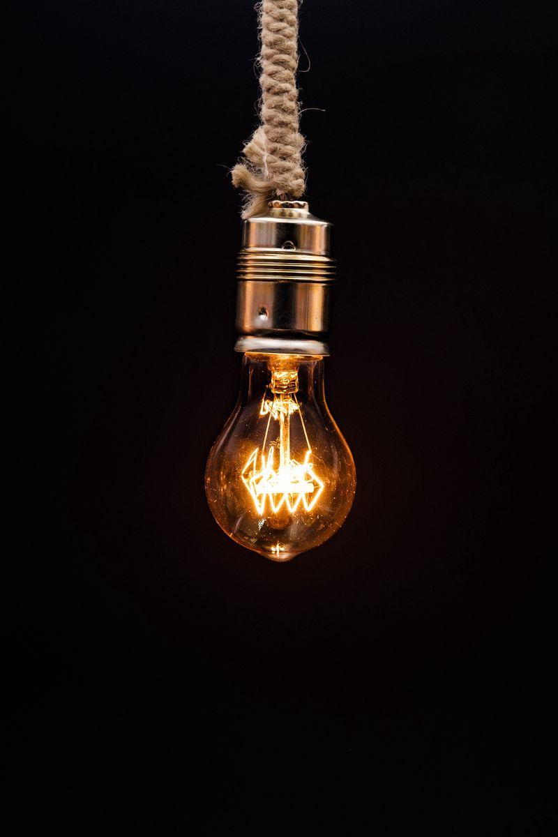 800x1200 Wallpaper bulb, lighting, rope, electricity, edisons lamp