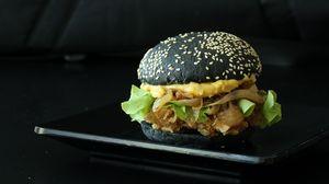 Preview wallpaper burger, hamburger, black burger, juicy