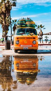 Preview wallpaper bus, surfing, summer