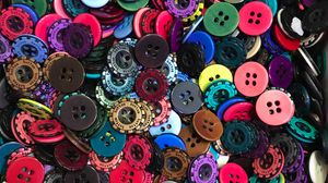 Preview wallpaper buttons, multi-colored, plastic, texture