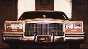 Preview wallpaper cadillac brougham, cadillac, front view, headlights, bumper