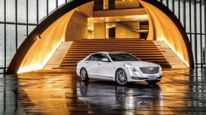 Preview wallpaper cadillac, ct6, white, side view