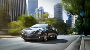 Preview wallpaper cadillac, elr, speed, movement