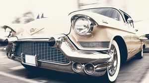 Preview wallpaper cadillac, oldtimer, front view
