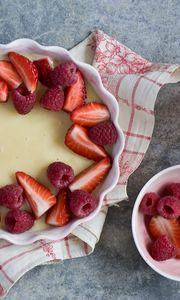 Preview wallpaper cake, berries, dessert, raspberry, strawberry