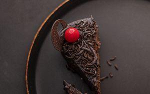 Preview wallpaper cake, chocolate, cherry, dessert