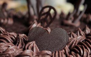 Preview wallpaper cake, chocolate, cream, dessert