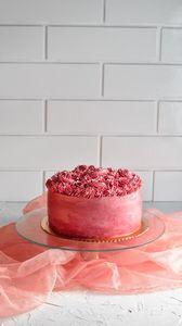 Preview wallpaper cake, cream, dessert, pink