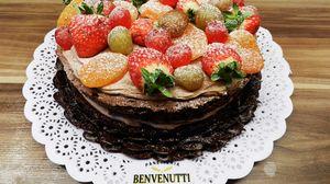 Preview wallpaper cake, dessert, baking, icing sugar, berry