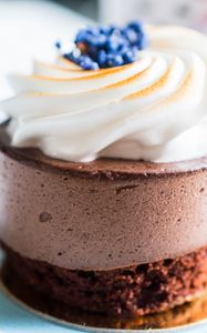 Preview wallpaper cake, dessert, berries, cream