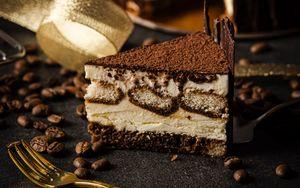 Preview wallpaper cake, dessert, coffee beans, coffee