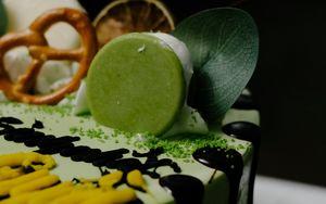 Preview wallpaper cake, dessert, decoration, green