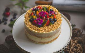 Preview wallpaper cake, dessert, pastry, berries