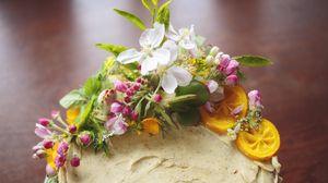 Preview wallpaper cake, flowers, decoration, dessert