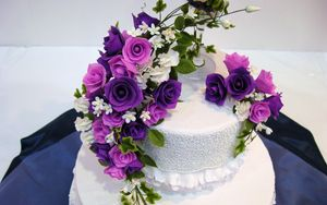 Preview wallpaper cake, flowers, decoration, sweet
