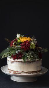 Preview wallpaper cake, flowers, pastries, dessert