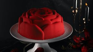 Preview wallpaper cake, flowers, red