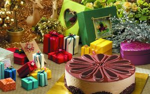 Preview wallpaper cake, gifts, decoration