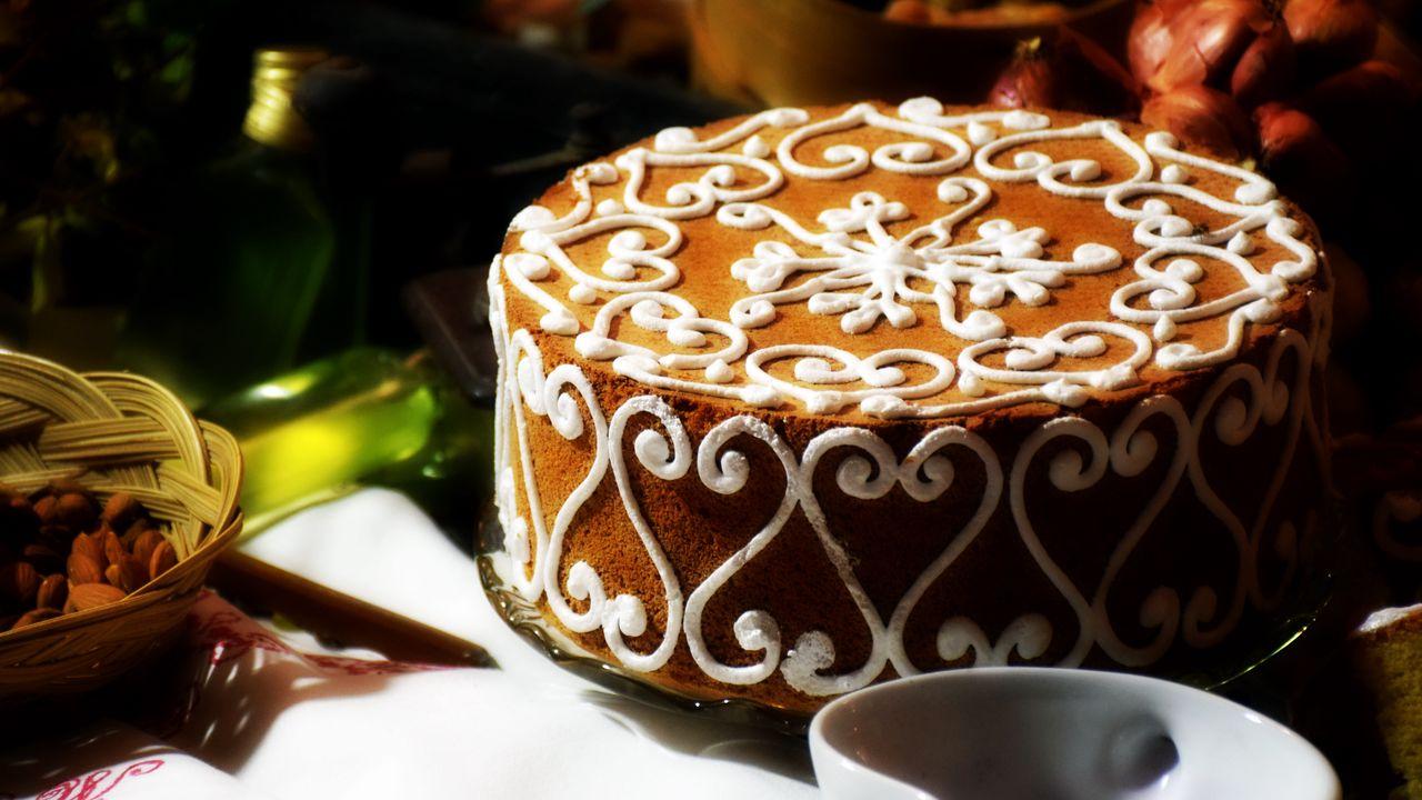 Wallpaper cake, pastry, cream, dessert