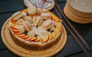 Preview wallpaper cake, pastry, dessert, macaron