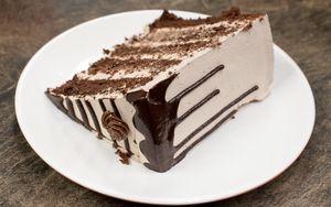 Preview wallpaper cake, slice, cream, pastry, dessert