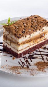 Preview wallpaper cake, souffles, cream, chocolate