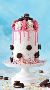 Preview wallpaper cake, watering, cookies, dessert