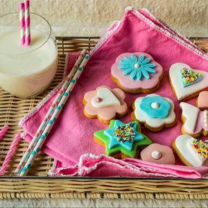 Preview wallpaper cakes, milk, dessert, serving, decoration