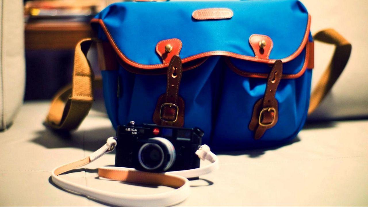 Wallpaper camera, bag, blue