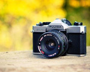 Preview wallpaper camera, lens, objective, blur