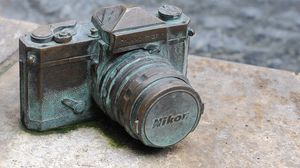 Preview wallpaper camera, nikon, old, excavation
