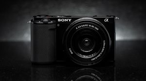 Preview wallpaper camera, objective, black and white, black