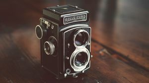 Preview wallpaper camera, old, vintage, lenses, photography
